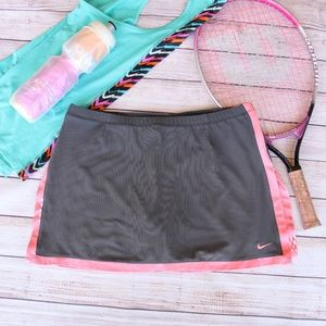 Nike Dri Fit Gray Peach Tennis Skirt Skorts